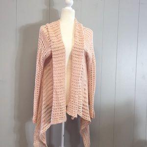 O'Neill Pink Open knit cardigan sweater Size XL